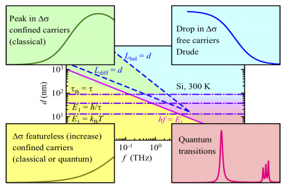 Charge carrier transport and dynamics in nanostructures in the THz regime