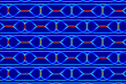 Computer simulation of a domain supercrystal