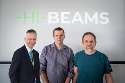 From left: Ing. Tomáš Mocek, Ph.D., Head of the HiLASE Centre; Ing. Petr Mrkos, MBA,  Managing director Hi-Beams, Mojmír Jílek,  Owner of SHM company