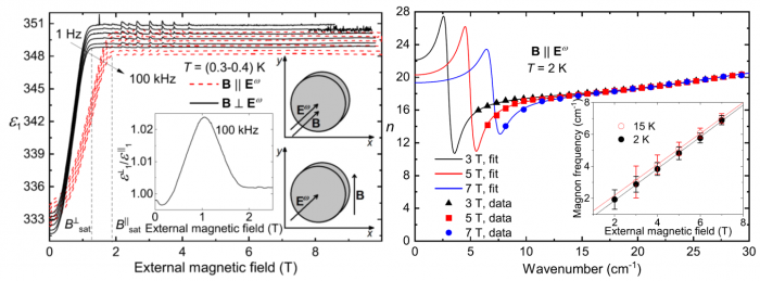 Magnetic field dependence of EuTiO3 permittivity