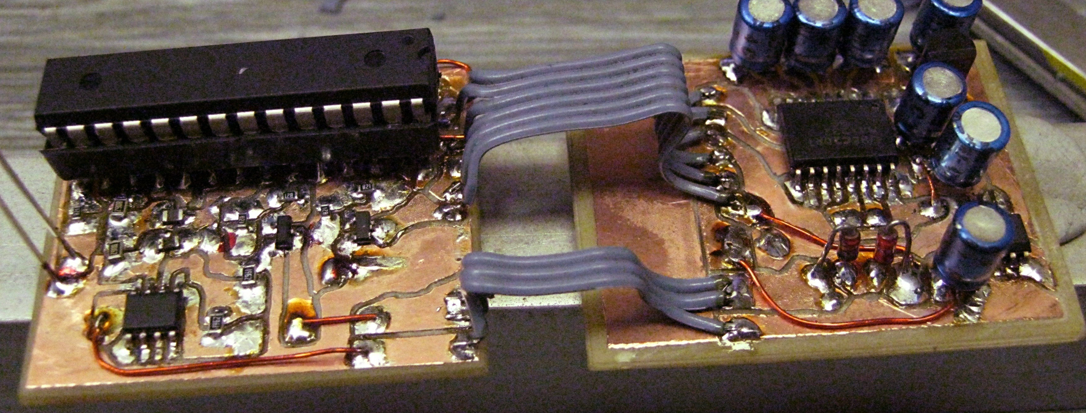 Fidocnc A Circuit Board Manufacturing Robot After Etching Process Examples Of Milled Circuits