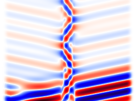 Simulations of electromagnetic waves with python-meep